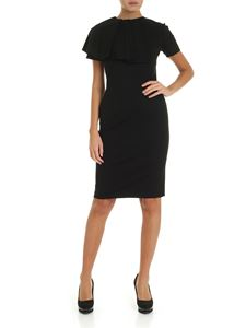 Fuzzi - Knee-length dress in black with pleats