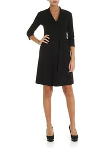 Fuzzi - Black V-neck midi-dress