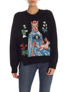 Vivetta - Black pullover with multicolor patches