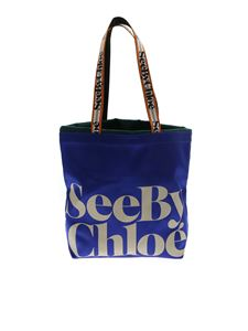See by Chloé - Satin shoulder bag in electric blue