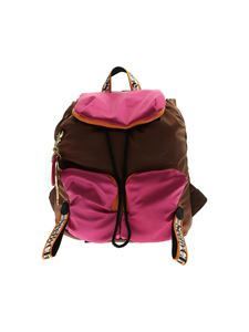 See by Chloé - Joy Rider backpack in brown and fuchsia