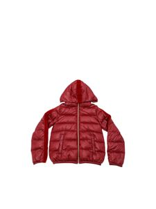 Herno - Down jacket with velvet insert in burgundy