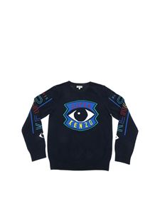 Kenzo - Super Kenzo embroidery pullover in blue