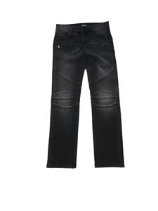 Balmain - Jeans in black with embossed details