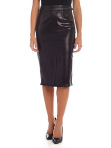 J Brand - Black midi skirt with coating