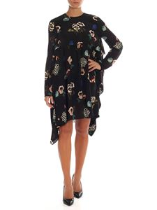 Red Valentino - Floral pattern dress in black