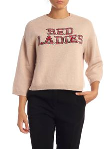 Red Valentino - Pink pullover with Red Ladies embroidery