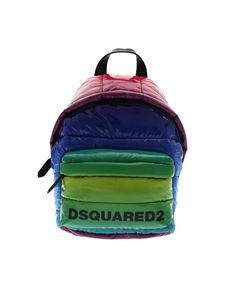 Dsquared2 - Quilted rainbow backpack