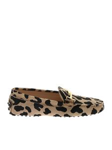 Tod's - Gommini moccasins in animal print