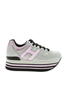 Hogan - Sneakers H473 color ghiaccio e rosa