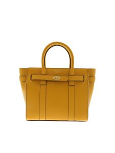 Mulberry - Mini Zipped Small Bayswater bag in ocher color