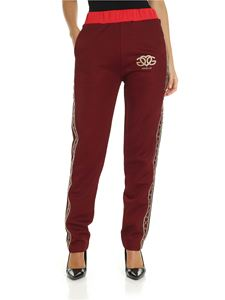 Gaelle Paris - Burgundy trousers with logo details