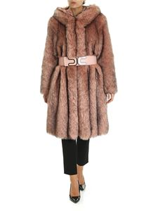 Elisabetta Franchi - Pink and black eco-fur with belt