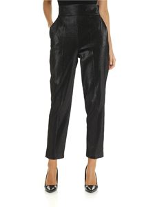 Elisabetta Franchi - Black lamé slim fit trousers