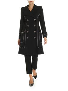 Elisabetta Franchi - Black coat with contrasting trim