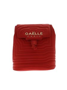 Gaelle Paris - Red quilted backpack with logo