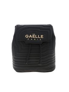 Gaelle Paris - Black quilted backpack with logo