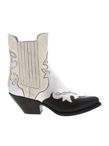 Buttero - Texan boots in black and white