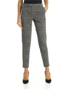 Jacob Cohën - Grey trousers with houndstooth pattern