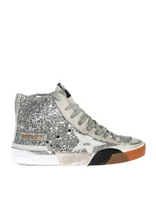 Golden Goose Deluxe Brand - Francy patchwork sneakers in glitter
