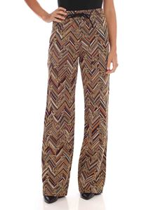 M Missoni - Lamé gold trousers with M logo