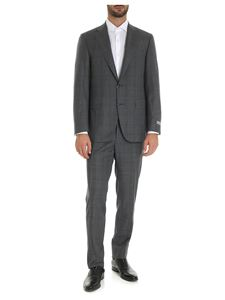 Canali - Single-breasted Prince of Wales suit in grey and blue