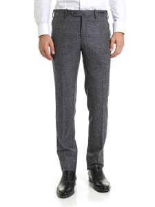 PT01 - Blue and grey virgin wool trousers