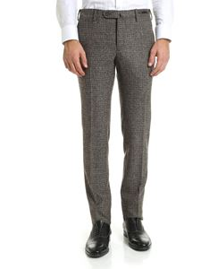 PT01 - Brown and green wool trousers