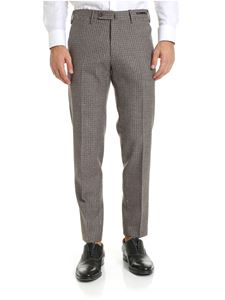 PT01 - Houndstooth trousers in shades of brown and black