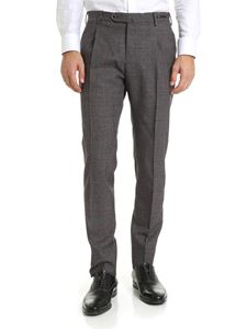 PT01 - Prince of Wales trousers in black white and red