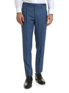 PT01 - Pale blue-colored trousers with darts