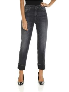 Fay - Turned-up jeans in grey