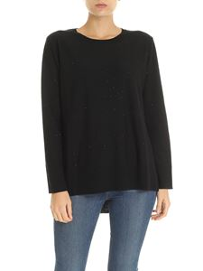 Kangra Cashmere - Black pullover with micro-sequins