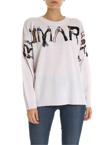 Blumarine - Pink pullover with logo