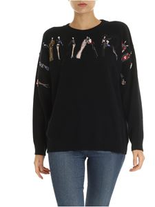 Blumarine - Black pullover with logo