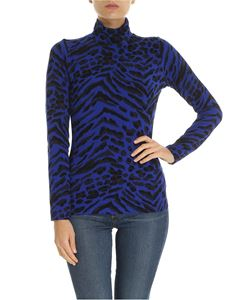 Blumarine - Bluette turtleneck with animal print