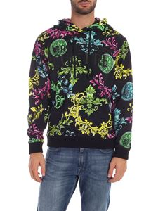 Versace Jeans Couture - Color Baroque hoodie in black