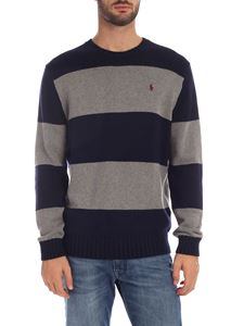POLO Ralph Lauren - Blue and grey striped pullover