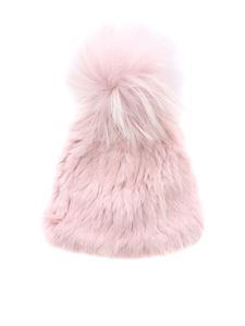 Yves Salomon - Pink hat with pom-pon