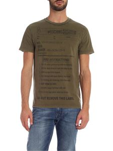 Moschino - T-shirt Jersey Army Label verde