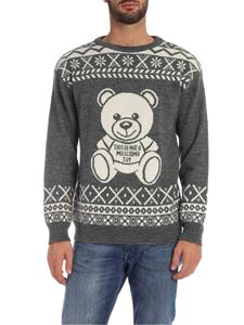 Moschino - Grey pullover with Teddy Bear logo