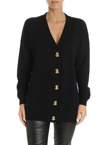 Moschino - Dollar Buttons cardigan in black
