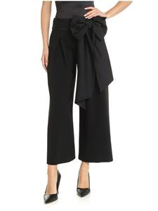 Moschino - Black over-fit trousers with bow