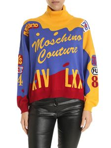 Moschino - Colorblook pullover in yellow blue and red