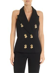 Moschino - Dollar Studs double-breasted vest in black