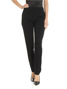 Moschino - Black crepe trousers with sartorial pleat