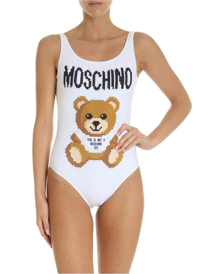 Moschino - Teddy Bear Pixel Capsule white swimsuit
