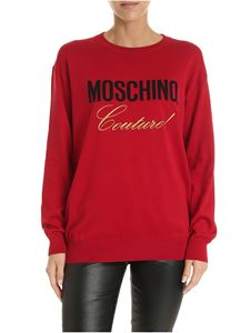 Moschino - Red pullover with Moschino Couture embroidery