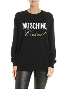 Moschino - Black pullover with Moschino Couture embroidery