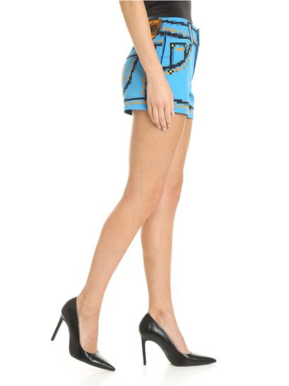 Moschino - Pixel Capsule shorts in light blue color